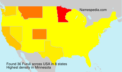 Surname Furuli in USA
