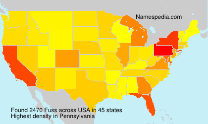 Surname Fuss in USA