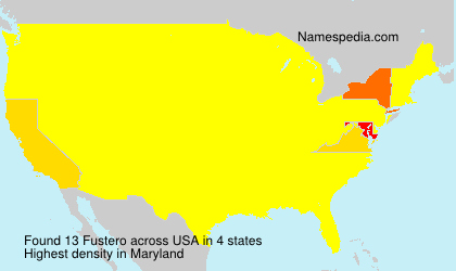 Surname Fustero in USA