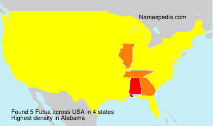 Surname Futua in USA
