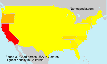 Surname Gaad in USA