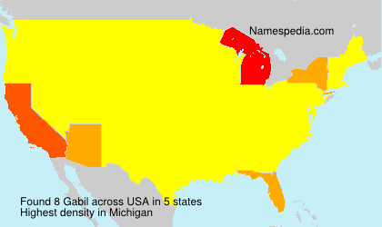Surname Gabil in USA