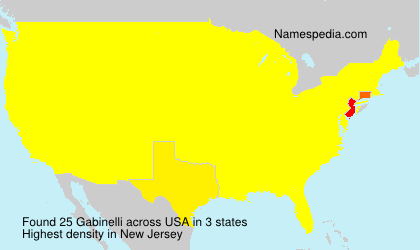Surname Gabinelli in USA