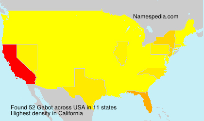 Surname Gabot in USA