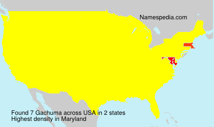 Surname Gachuma in USA