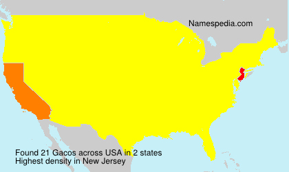 Surname Gacos in USA