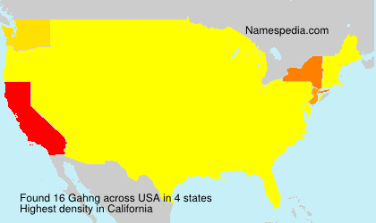 Surname Gahng in USA