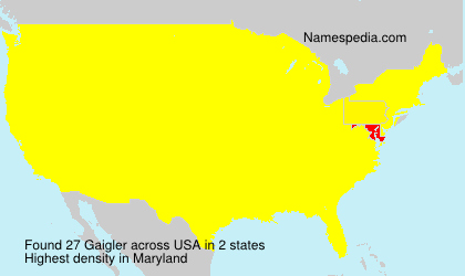 Surname Gaigler in USA