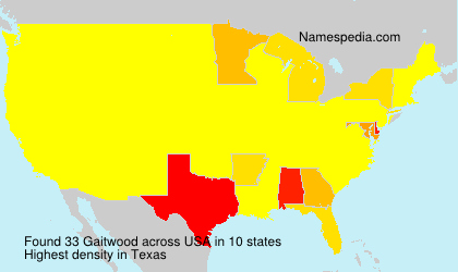 Surname Gaitwood in USA