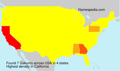 Surname Gakumo in USA
