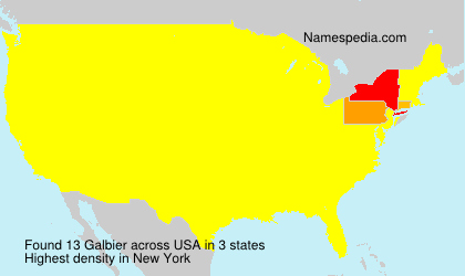 Surname Galbier in USA