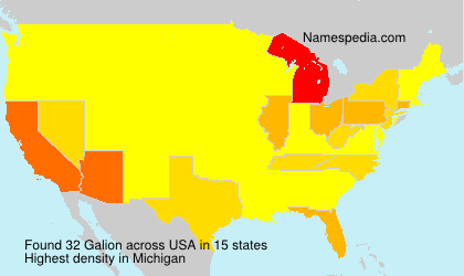 Surname Galion in USA