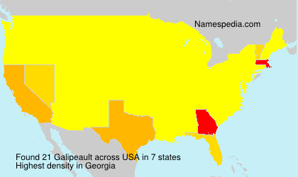 Surname Galipeault in USA