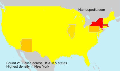 Surname Galise in USA
