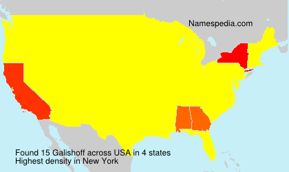 Surname Galishoff in USA