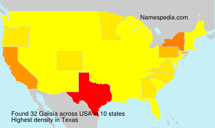 Surname Galisia in USA