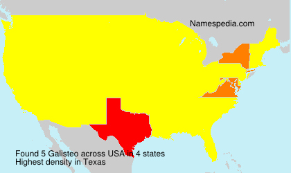 Surname Galisteo in USA