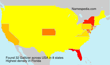 Surname Galitzer in USA
