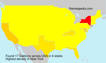 Surname Galitzine in USA