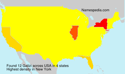 Surname Galizi in USA