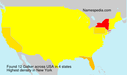Surname Galker in USA