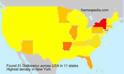 Surname Galkiewicz in USA