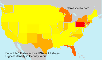 Surname Galko in USA