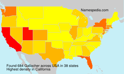 Surname Gallacher in USA