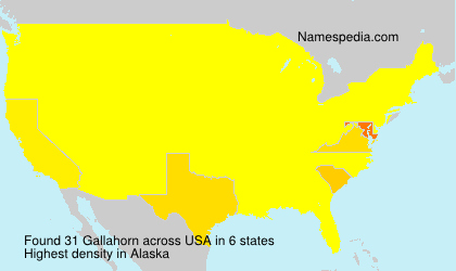 Surname Gallahorn in USA