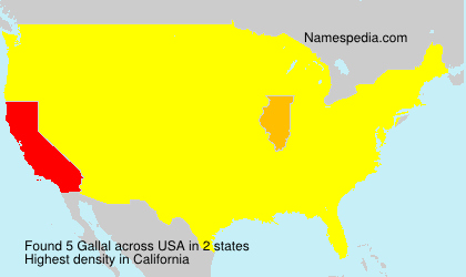Surname Gallal in USA