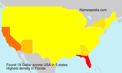 Surname Gallar in USA