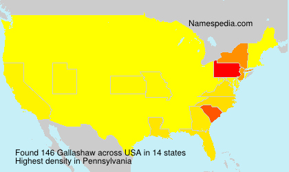 Surname Gallashaw in USA