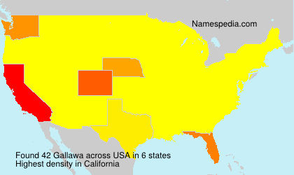 Surname Gallawa in USA