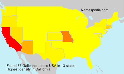 Surname Galleano in USA
