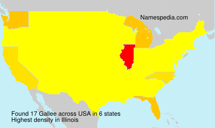 Surname Gallee in USA