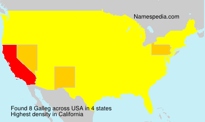 Surname Galleg in USA