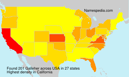 Surname Galleher in USA