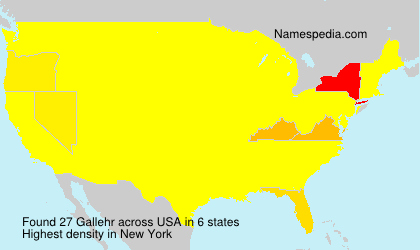 Surname Gallehr in USA