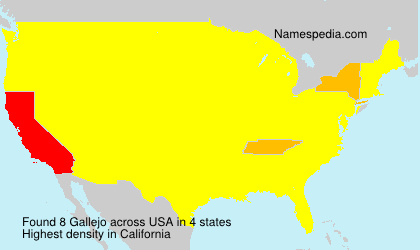 Surname Gallejo in USA
