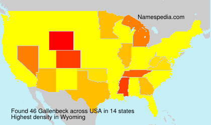 Surname Gallenbeck in USA