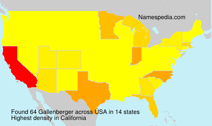 Surname Gallenberger in USA