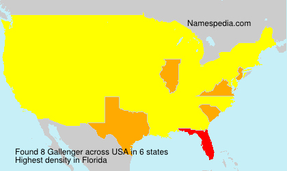 Surname Gallenger in USA