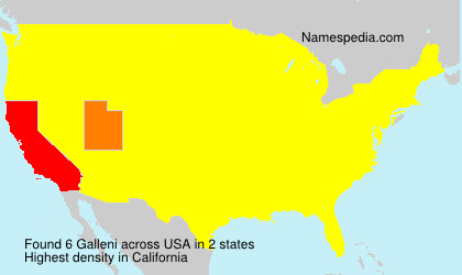 Surname Galleni in USA