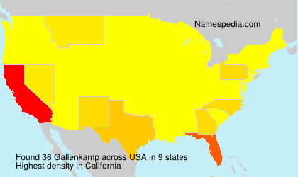 Surname Gallenkamp in USA