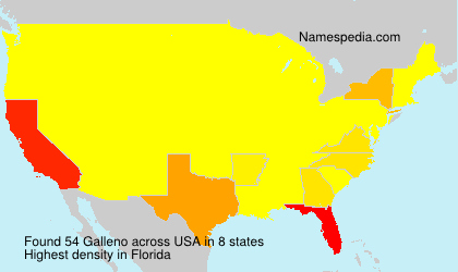 Surname Galleno in USA