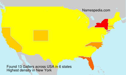 Surname Gallers in USA