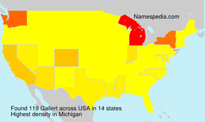 Surname Gallert in USA