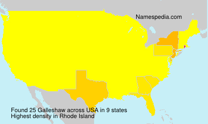 Surname Galleshaw in USA