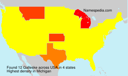 Surname Galleske in USA