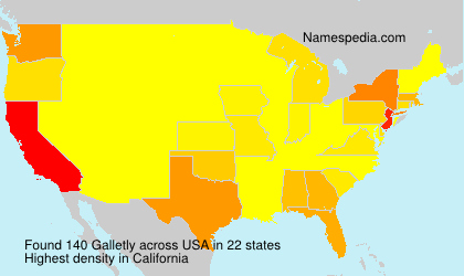 Surname Galletly in USA